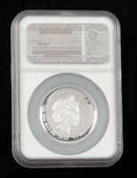 2016-P Tuvalu Star Trek Enterprise Ship 1 oz .999 Fine Silver High Relief Coin - First Day of Issue (NGC PF70 Ultra Cameo) at PristineAuction.com