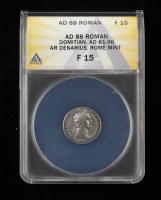 Domitian (A.D. 81-96) Roman Empire AR Denarius Rome Mint Ancient Silver Coin (ANACS F15) at PristineAuction.com