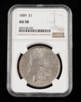 1889 Morgan Silver Dollar (NGC AU58) at PristineAuction.com