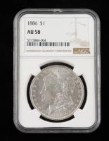 1886 Morgan Silver Dollar (NGC AU58) at PristineAuction.com