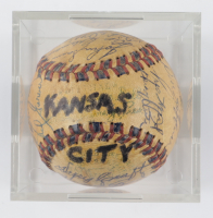1959 Athletics Baseball Team-Signed by (30) with Roger Maris, Dick Williams, Ray Boone, Ned Garver with Display Case (SportsCards LOA) at PristineAuction.com