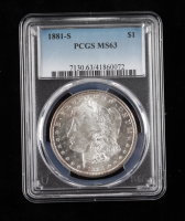 1881-S Morgan Silver Dollar (PCGS MS63) at PristineAuction.com