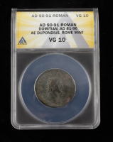 Domitian (A.D. 81-96) Roman Empire AE Dupondius, Rome Mint  Ancient Coin (ANACS VG10) at PristineAuction.com