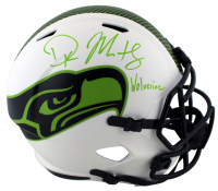 """DK Metcalf Signed Seahawks Full-Size Authentic On-Field Lunar Eclipse Alternate Speed Helmet Inscribed """"Wolverine"""" (Beckett COA) at PristineAuction.com"""