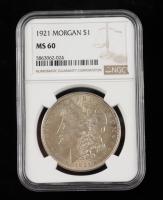 1921 Morgan Silver Dollar (NGC MS60) at PristineAuction.com
