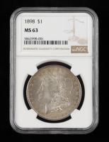 1898 Morgan Silver Dollar (NGC MS63) (Toned) at PristineAuction.com