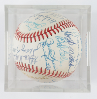 MLB Hall of Famers Baseball Signed by (25) with Larry Walker, Gary Carter, Felipe Alou, Rick Cerone with Display Case (SportsCards LOA) at PristineAuction.com