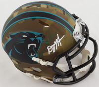 D. J. Moore Signed Panthers Camo Alternate Speed Mini Helmet (Beckett Hologram) at PristineAuction.com