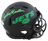 Curtis Martin Signed Jets Eclipse Alternate Speed Mini Helmet (PSA COA) at PristineAuction.com