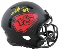 Travis Kelce Signed Chiefs Eclipse Alternate Speed Mini Helmet (Beckett Hologram) at PristineAuction.com