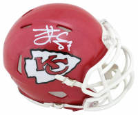 Travis Kelce Signed Chiefs Speed Mini Helmet (Beckett Hologram) at PristineAuction.com