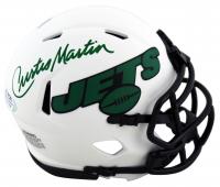Curtis Martin Signed Jets Lunar Eclipse Alternate Speed Mini Helmet (PSA COA) at PristineAuction.com
