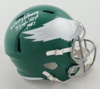 "Wilbert Montgomery Signed Eagles Full-Size Throwback Speed Helmet Inscribed ""31 Eagles HOF 1987"" (JSA COA) (See Description) at PristineAuction.com"