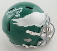 "Wilbert Montgomery Signed Eagles Full-Size Throwback Speed Helmet Inscribed ""31 Eagles HOF 1981"" (JSA COA) (See Description) at PristineAuction.com"
