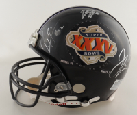 Ray Lewis, Jamal Lewis, & Trent Dilfer Signed Ravens Super Bowl XXXV Full-Size Authentic On-Field Helmet (JSA Hologram & Mounted Memories COA) at PristineAuction.com