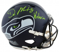 """DK Metcalf Signed Seahawks Full-Size Authentic On-Field Speed Helmet Inscribed """"Wolverine"""" (Beckett COA) at PristineAuction.com"""