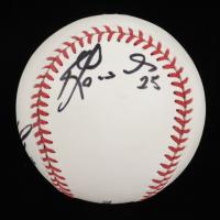 Jarrod Dyson & Kendrys Morales Signed OML Baseball (JSA COA) at PristineAuction.com
