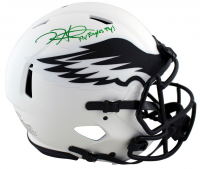 """Jalen Hurts Signed Eagles Full-Size Lunar Eclipse Alternate Authentic On-Field Speed Helmet Inscribed """"Fly Eagles Fly"""" (PSA COA) at PristineAuction.com"""