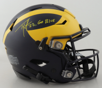 """Ty Law Signed Michigan Wolverines Full-Size Authentic On-Field Matte Black SpeedFlex Helmet Inscribed """"Go Blue"""" (Beckett Hologram) at PristineAuction.com"""