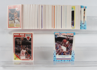 Complete Set of (179) 1989 Fleer Basketball Cards and Stickers with Michael Jordan #3 & Michael Jordan #21 at PristineAuction.com