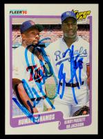 Kirby Puckett & Bo Jackson Signed 1990 Fleer #635 (JSA COA) at PristineAuction.com