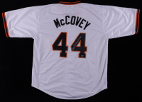 """Willie McCovey Signed Jersey Inscribed """"HOF 86"""" (Mounted Memories Hologram) at PristineAuction.com"""