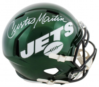 Curtis Martin Signed Jets Full-Size Speed Helmet (PSA COA) at PristineAuction.com