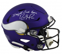 """Randy Moss Signed Vikings Full-Size Authentic On-Field SpeedFlex Helmet Inscribed """"Straight Cash Homie"""" (Beckett COA) at PristineAuction.com"""