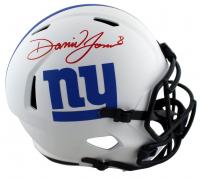 Daniel Jones Signed Giants Full-Size Lunar Eclipse Alternate Speed Helmet (Beckett Hologram) at PristineAuction.com