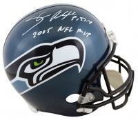 "Shaun Alexander Signed Seahawks Full-Size Helmet Inscribed ""2005 NFL MVP"" (Beckett Hologram) at PristineAuction.com"