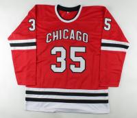 "Tony Esposito Signed Jersey Inscribed ""HOF 1988"" (Beckett COA) at PristineAuction.com"