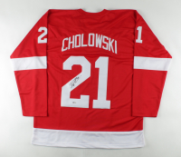 Dennis Cholowski Signed Jersey (Beckett COA) at PristineAuction.com