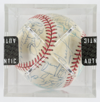 1995 Mets ONL Baseball Team-Signed by (30) with Dallas Green, Jeff Kent, Alberto Castillo, Bill Spiers, Tim Bogar, Mike Cubbage with Display Case (SportsCards LOA) at PristineAuction.com