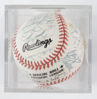 1993 Pirates ONL Baseball Team-Signed by (30) with Jim Leyland, Andy Van Slyke, Kevin Young, Don Slaught with Display Case (SportsCards LOA) at PristineAuction.com