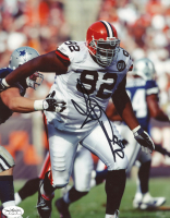 Shaun Rogers Signed Browns 8x10 Photo (JSA SOA) at PristineAuction.com