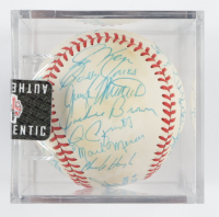 1981 Rangers OAL Baseball Team-Signed by (26) with Don Zimmer, Jackie Brown, Charlie Hough, Fergie Jenkins, Jon Matlack with Display Case (SportsCards LOA) at PristineAuction.com