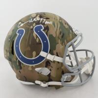 "Carson Wentz Signed Colts Full-Size Camo Alternate Speed Helmet Inscribed ""AO1"" (Fanatics Hologram) at PristineAuction.com"