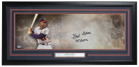 Hank Aaron Signed Braves 10x30 Custom Framed Photo Display (Fanatics Hologram) at PristineAuction.com