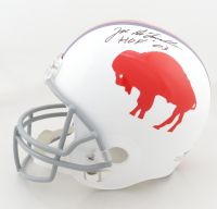 "Joe DeLamielleure Signed Bills Throwback Full-Size Helmet Inscribed ""HOF '03"" (Schwartz COA) at PristineAuction.com"