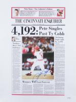 Pete Rose Signed 19x25 News Article Print (PSA Hologram) (See Description) at PristineAuction.com
