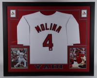 Yadier Molina Signed 35x43 Custom Framed Jersey Display (JSA COA) at PristineAuction.com