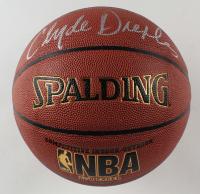 Clyde Drexler & Hakeem Olajuwon Signed NBA Basketball (Schwartz COA) at PristineAuction.com