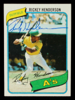 Rickey Henderson Signed 1980 Topps #482 RC (JSA COA) at PristineAuction.com