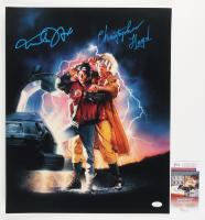 "Michael J. Fox & Christopher Lloyd Signed ""Back To The Future"" 16x20 Photo (JSA COA) at PristineAuction.com"