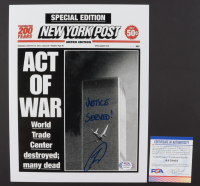 """Robert O'Neill Signed """"September 11th Attack"""" N.Y. Post 8 1/2 x 11 Cover Inscribed """"Justice Served!"""" (PSA COA) at PristineAuction.com"""
