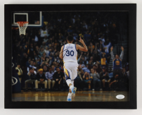 Stephen Curry Signed Warriors 12.25x15.25 Custom Framed Photo Display (JSA COA) at PristineAuction.com