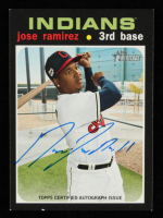 Jose Ramirez Signed 2020 Topps Heritage Real One Autographs #ROAJR (JSA COA) at PristineAuction.com