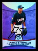 George Springer Signed 2010 Bowman Platinum Prospects Purple Refractors #PP48 (JSA COA) at PristineAuction.com