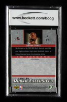 LeBron James 2003-04 Upper Deck Rookie Exclusives #1 RC (BCCG 10) at PristineAuction.com