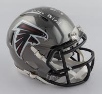 "Calvin Ridley Signed Falcons Chrome Speed Mini Helmet Inscribed ""Dirty Bird"" (Radtke COA & Ridley Hologram) at PristineAuction.com"